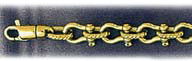 14k gold 6mm mens shackle bracelet
