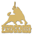 14k gold designer bull personalized nameplate